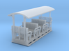 OO9 Small toastrack open coach  3d printed