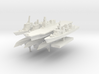 JMSF Fleet 2 1:3000 (8 ships) 3d printed