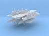 JMSF Fleet 2 1:6000 (8 ships) 3d printed