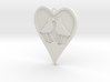 heart with two birds, solid bottom, one top ring 1 3d printed