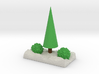 Xmas  Tree An Bushes In Snow 3d printed