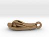 Soccer / football flipflop pendant 3d printed flipflop sandalRaw Brass
