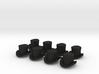 28mm Top hats (x8) 3d printed