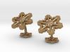 Snowflakes3Cufflinks 3d printed