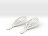 leaf elliptical earrings | 74mm 3d printed