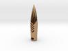 50 Caliber  Hogs-tooth Pendant Round in Premium Me 3d printed
