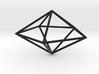 pentagonal dipyramid 70mm 3d printed