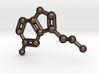 Serotonin Molecule Keychain Necklace 3d printed