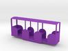 miniature railway coach 3d printed