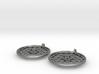 Silver Flower of Life Earrings 3d printed