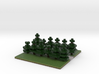 60x60 straight path (pine trees) (2mm series) 3d printed