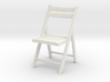 1:24 Wood Folding Chair (Not Full Size) 3d printed