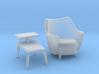 1:48 Moderne Tub Chair Set 3d printed
