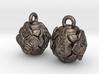 Stylized Lotus Earrings 3d printed