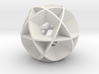 Icosidodecahedron (wide) 3d printed