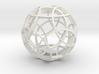 Rhombicosidodecahedron (narrow) 3d printed