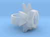 Daffodil Ring frosted detail 3d printed