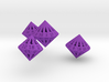 Regular Dipyramidal Dice Set 3d printed