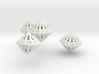 Regular Dipyramidal Dice Set 3d printed
