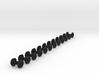 12x 9mm Gauge Wheels for OO9,HOn30,O9 - 7.6mm diam 3d printed