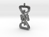 Intertwined Dragon pendant 3d printed