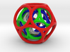 Nested Multi-colored Toroidal Dodecahedron 3d printed