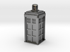 TARDIS Necklace/Charm Silver 3d printed