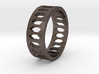 Hexagon Pattern Ring - Size 12 - Single Layer 3d printed