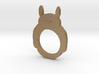 Totoro 2D Ring - Size 8 3d printed