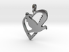 Love & Peace Pendant 3d printed