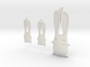 Bunny Earrings and Pendant Set 3d printed