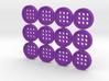 """5/8"""" alphabet buttons (dozen) 3d printed"""