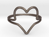 Wire Heart Ring (Size 7) 3d printed