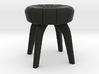 1:24 Flower Tufted Stool 3d printed