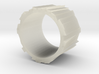 Faceted ring 02 17mm 3d printed