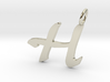 H Classic Script Initial Pendant Letter  3d printed