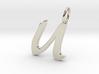 U Classic Script Initial Pendant 3d printed