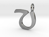 V Classic Script Initial Pendant Letter  3d printed