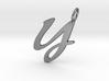 Y Classic Script Initial Pendant 3d printed