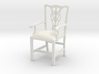 "Cambridge Councill Arm Chair 3"" tall 3d printed"
