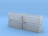 N scale 1/160 Tie or Dirt Container x 4 3d printed