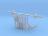 Micro Munny Ninja Weapons  3d printed