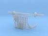 Micro Dunny Ninja Weapons  3d printed