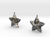 Tortuous Stars Earrings 3d printed