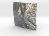 3'' Mt. Shasta Terrain Model, California, USA 3d printed