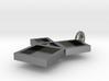 Silver Pythagorean Theorem Pendant 3d printed