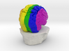Rainbow Brain 3d printed
