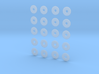 """HO scale 20pc 33"""" Allen Paper Wheel Inserts  3d printed"""