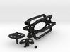 Rubber band dinamo parts 3d printed