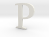 P (letters series) 3d printed